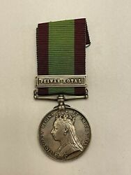 Victorian British Afghanistan Campaign Medal W/ Clasp, 2/8 Regt. - Pin/badge