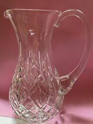 """Vintage Waterford Crystal Cut Pitcher Rare 9.5""""tall"""