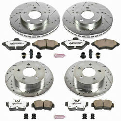Power Stop Brake Kit For Ford Mustang 1994-1998 Front And Rear Z26-street Warrior