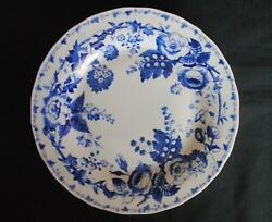 Williams Sonoma Blue French Bouquet Dinner Plate Country Floral Toile 10 3 4quot;