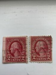 George Washington 2 Cent Red Stamps Lot Of 2