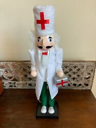 Clever Creations 15 Doctor Nutcracker New Never Displayed