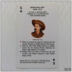 Frontiersmen Of The Old West Buffalo Bill Cody Ks Playing Card Sc4