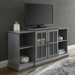 Manor Park Classic Tiered Tv Stand For Tvs Up To 65 , Antique Grey