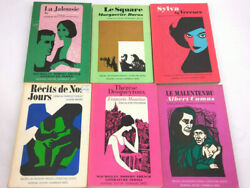 6 French 1960and039s Books - Macmillan Modern French Literature Series - Sylva