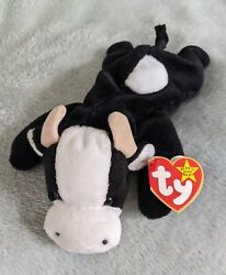 Daisy The Cow Very Rare Retired Ty Beanie Babies Baby With Errors Pvc Pellets