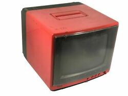Rca Xl100 Vintage 9 Tube Tv Rare Red Cabinet Display
