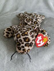 Freckles Leopard Ty Beanie Babies Baby W/ Errors Very Rare Retired Pvc Pellets