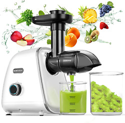Cold Press Juicer -2021 Newest Wowdsgn Slow Masticating Juicers Machines Easy To