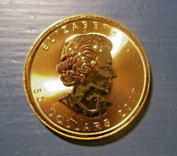 Gold One Ounce Coin, Canada 2017, -- .9999 Pure Gold
