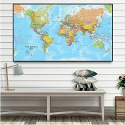 The World Political Map 225150cm Non-woven Canvas Wall Poster Home Decoration