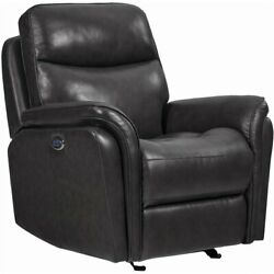 Coaster Pillow Top Arms Upholstered Power3 Glider Recliner In Charcoal