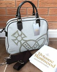 Vivienne Westwood Large Iconic Orb Tote Overnight Bag Retail Made In Italy