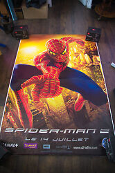 Spiderman 2 Style B 4x6 Ft Bus Shelter D/s Movie Poster Original 2004