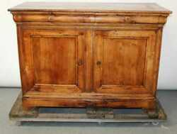 Antique French Walnut Louis Philippe Commode Chest Buffet Bas Cabinet