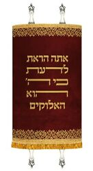 New Mantle Costume Made Sefer Torah Cover Jewish Art Made Judaica Red