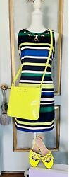 Nwt Vince Camuto Striped Embellished Dress Size S/m With Matching Shoes Us8