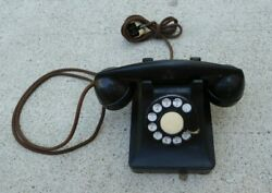 Vintage Bell System Western Electric 302 Black Rotary Desk Phone