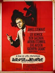 Anatomy Of A Murder - Original French Movie Poster - 1960's - Rare On Linen