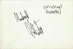 Michael Galeota Signed 4x6 Card Boy Actor Who Died At Age 31