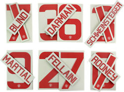 Manchester United 2015 2016 Away Nameset Replica Official Rooney Shaw Memphis