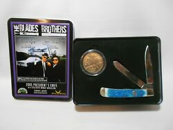 2005 Smoky Mountain Knife Blades Brothers President's Pocket Knife And Coin Set