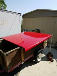 Ford F150 Short Bed Red Cover Fiberglass With Hardware, Keys, And Carpet