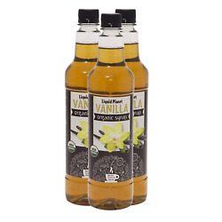 Organic Syrup, Coffee Syrup, 750 Ml 3 Pack From Liquid Planet Vanilla