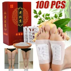 100x Foot Patches Ginger Detox Foot Pads Body Toxins Remove Feet Deep Cleansing