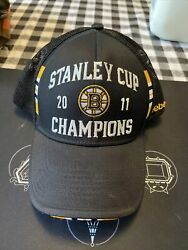 Boston Bruins Stanley Cup Champions 2011 Hat Reebok Center Ice Collection Osfm