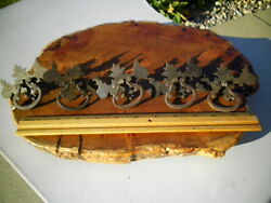 5 Vintage 1800s Antique Brass Drawer Pull Rare Style Furniture Mission Hardware