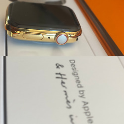 Series 6 Hermes Apple Watch 18k Gold Plated 40mm Custom Rare Body Only