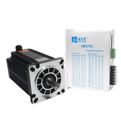 130byg350d/e Stepper Motor Kit Ac 220v 10a 24nm - 60nm 3-phase 3-wires And Driver