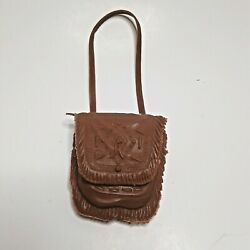 Marx Johnny West Chief Cherokee Shoulder Bag, Brown Soft Plastic Toy Accessory