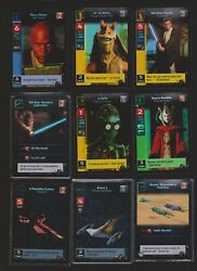 Star Wars Young Jedi Ccg Complete 158 Card Menace Of Darth Maul Set With 18 Foil