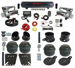 Complete Air Ride Suspension Kit 3/8 Air Manifold Bags And Tank For 58-64 Impala