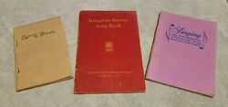 Watchtower Song Books 1928, 1944, 1966 Ibsa Jehovah International Bible Students