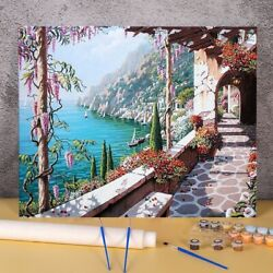 Landscape Town Seaside Paint By Numbers Package Acrylic Wall Paintings Crafts