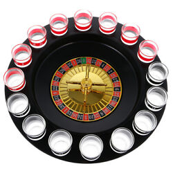 Novelty Drinking Roulette Set Wine Game With Casino Spin Shot Glass For Night
