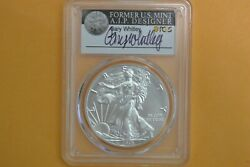 2019 W 1 Burnished Silver Eagle 1oz Pcgs Sp70 Gary Whitley Signed