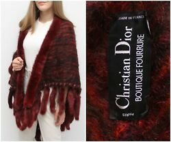 Vintage 70and039s Christian Dior Boutique Mohair Poncho Cape Md In France Ultra Rare