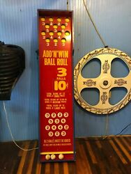 Vintage Carnival Table Top Ball Game Add And Win 10 Cents Shipping Available