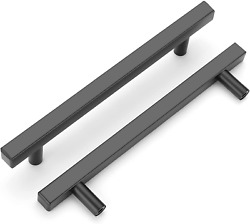 Black Cabinet Handle, Oyx 10 Pack 5in Black Pulls For Kitchen Drawer Pulls And H