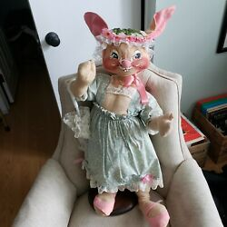 Annalee 1988 30 Girl Bunny With Parasol