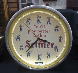 Vintage Youand039ll Play Better With A Selmer Neon Transformer Clock