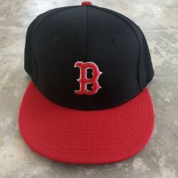 Boston Red Sox Fitted Hat Richardson Flexfit Black Red - Size Large/xl