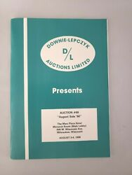 Downie-lepczyk Coin Auctions Aug 1986 New  2286