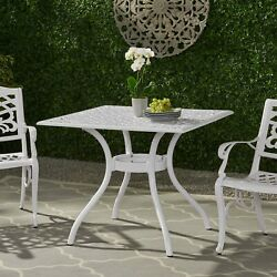 Honolulu Traditional Outdoor Aluminum Square Dining Table
