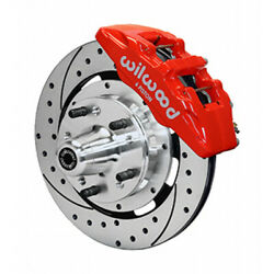 Wilwood For Gm G-body 79-87 Brake Kit Dynapro 6 Hub Drilled Front 12.19in Red