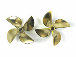 6717 4 Blade Left And Right Brass Prop Propeller For 1/4 Shaft Rc Boat